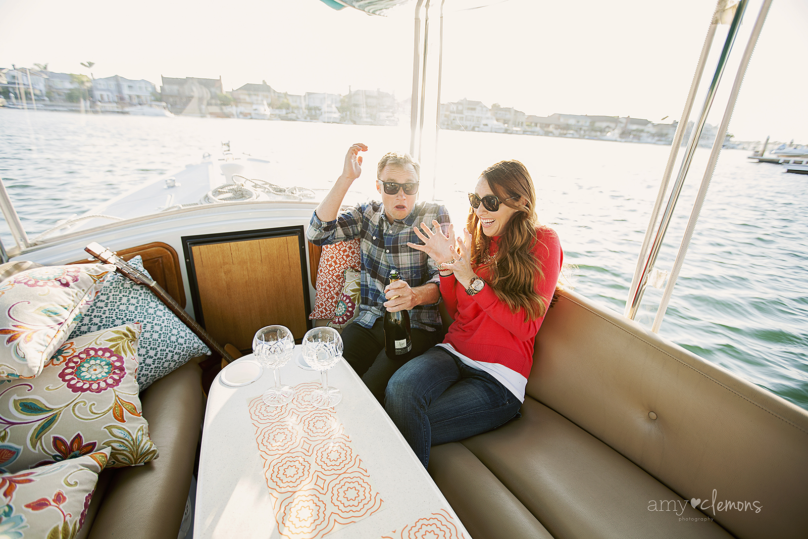 Huntington Harbor Engagement Session | Amy Clemons Photography