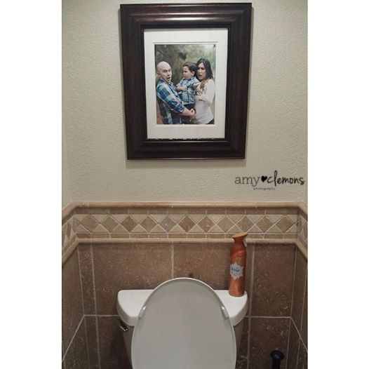Funny Bathroom Photo | Amy Clemons Photography